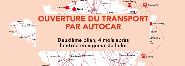 libéralisation marché autocar bilan 4 mois bus Macron