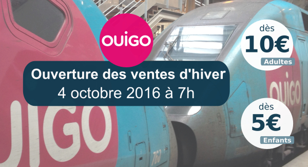 Promotions OUIGO octobre 2016
