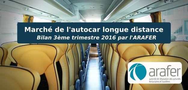 Marché autocar bilan 3ème trimestre 2016 Arafer