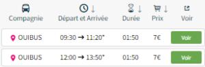 Bus retour Reims-Paris