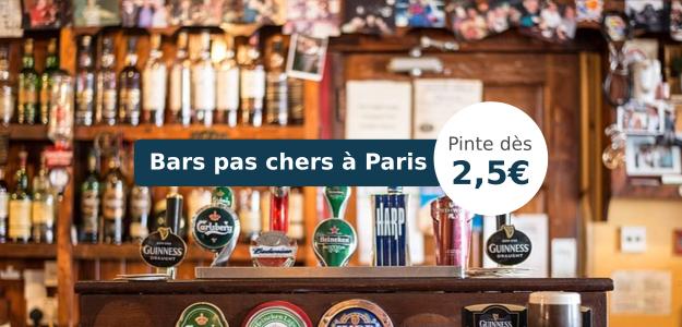 Bars les moins chers de Paris