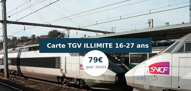 Carte jeunes illimité TGV SNCF