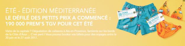 Promo 190 000 billets PREM'S TGV