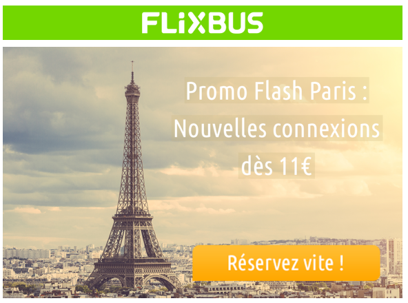 Promo FlixBus Paris
