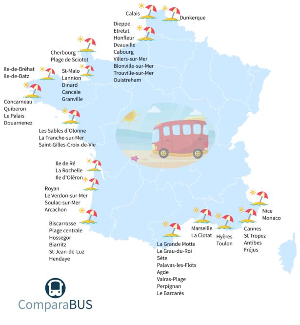 carte-des-plages-de-france - Photo