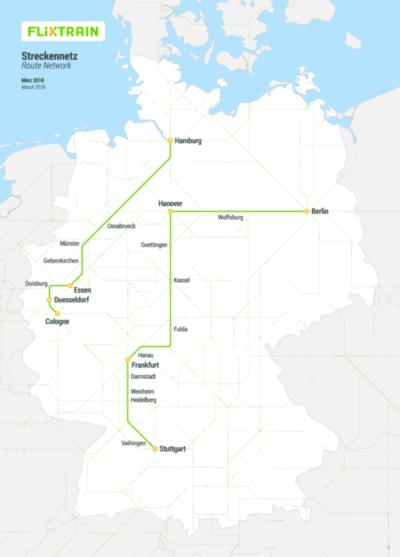 Carte réseau lignes train FlixBus