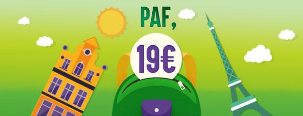 Promotion IZY Thalys train Paris Bruxelles pas cher