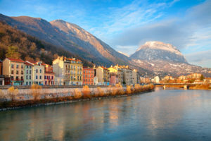 Grenoble at Sunset