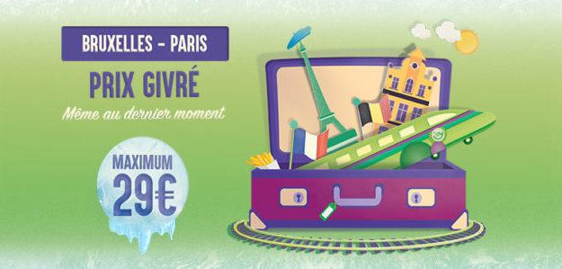 Promotion IZY, train Paris Bruxelles pas cher