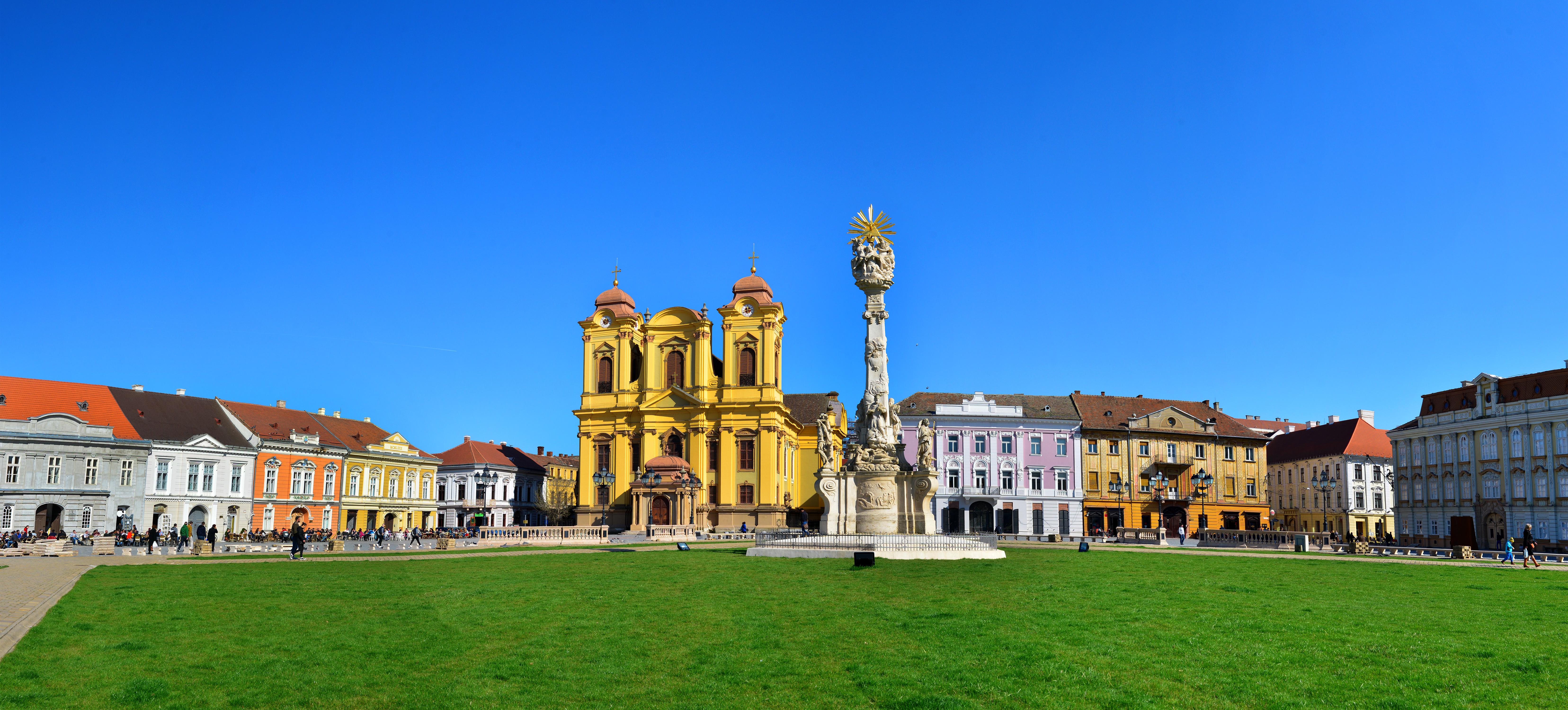 timisoara city romania roman catholic dome landmark architecture panorama