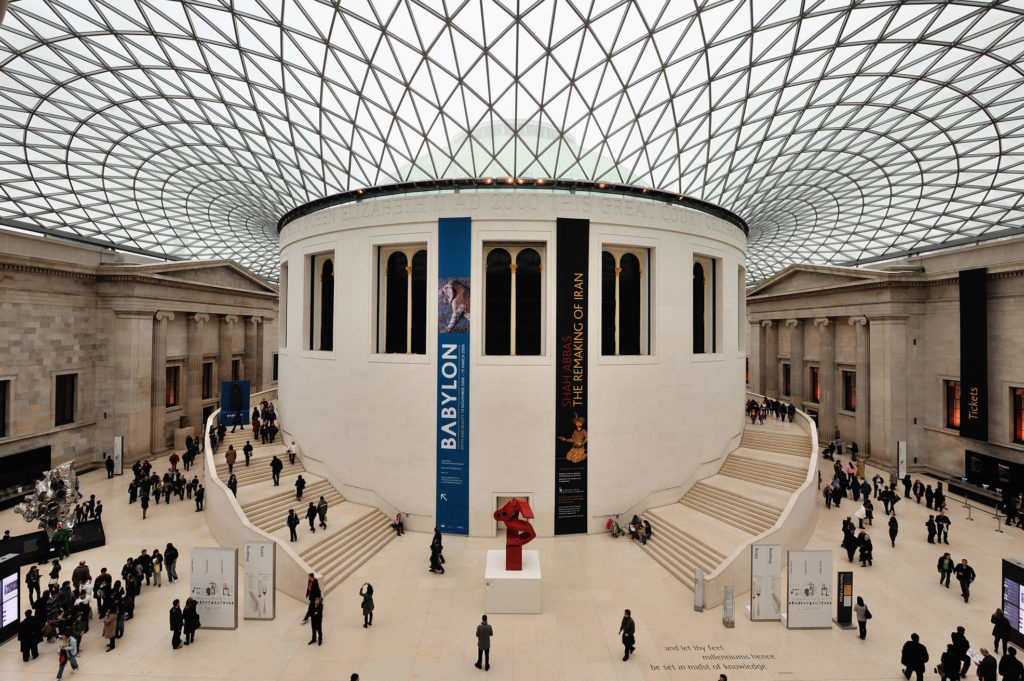 British Museum is one of the free places to visit in London, it takes thousands of visitors each year