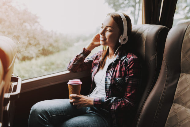 Entertain yourself during coach travelling with you favourite songs. That will be amazing moments to enjoy view and feel relax