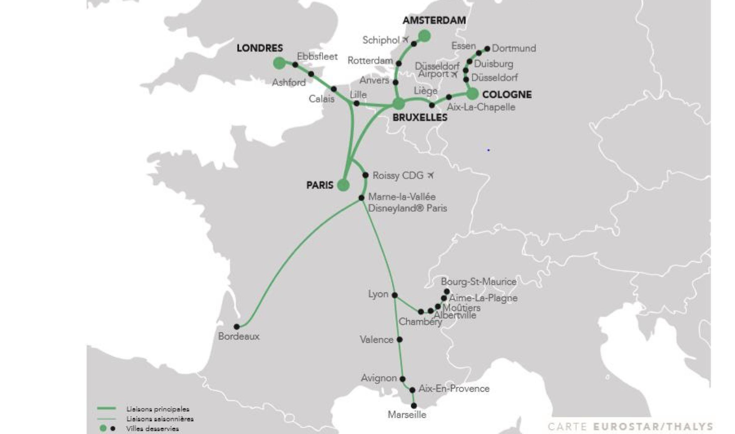Plan réseau Green Speed