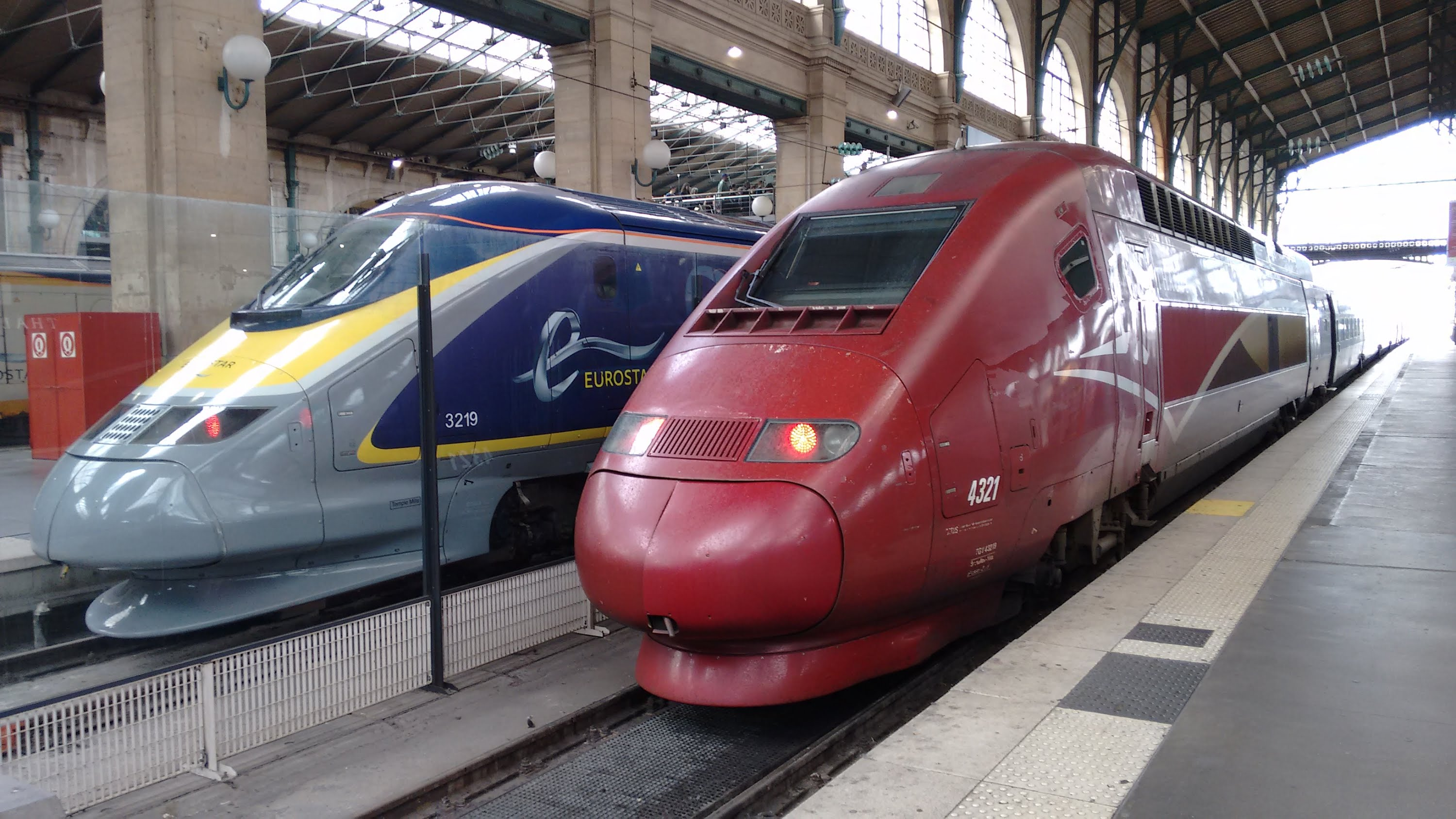 Thalys & Eurostar formant la compagne Green Speed