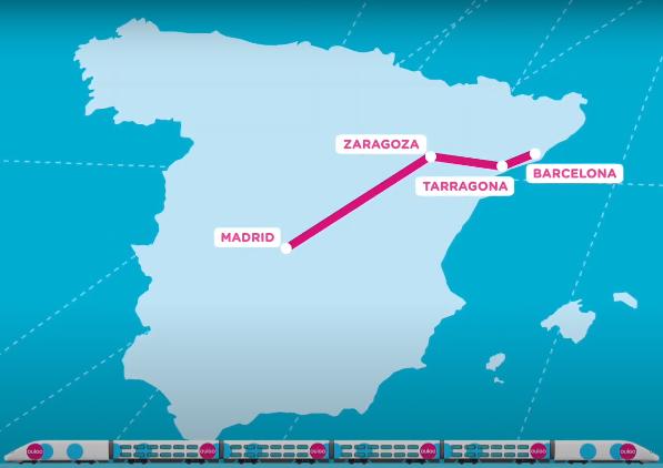 Mapa red AVE OUIGO marzo 2021